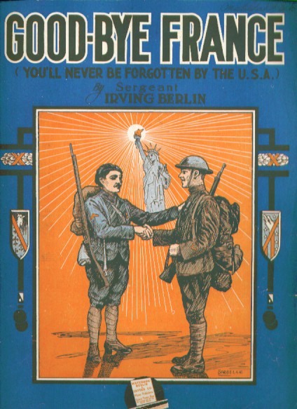Image for Good-Bye France 1918 patriotic Sheet music