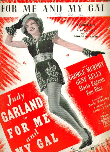 Image for For Me & My Gal 1942 Sheet music Judy Garland
