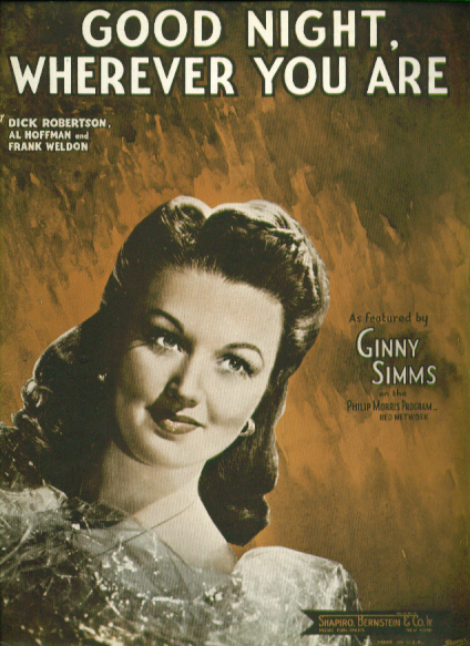 Image for Good Night Wherever You Are 1945 Sheet music