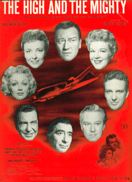 Image for The High & the Mighty 1954 Sheet music