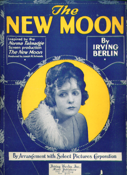 Image for The New Moon 1919 sheet music Norma Talmadge