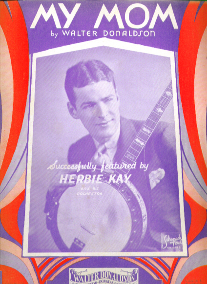 Image for My Mom 1932 sheet music Herbie Kay