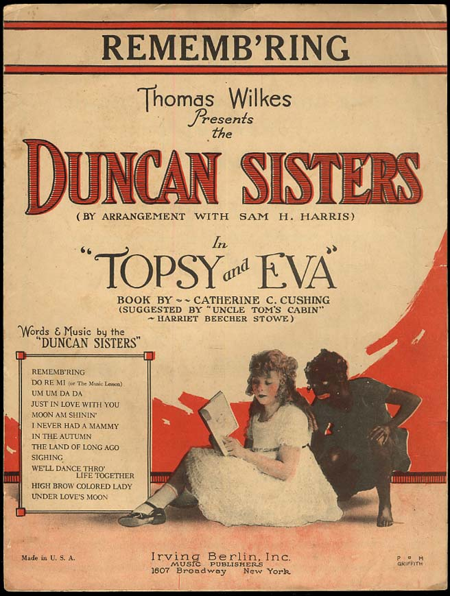 Image for Remembr'ing sheet music 1923 Duncan Sisters Topsy & Eva blackface