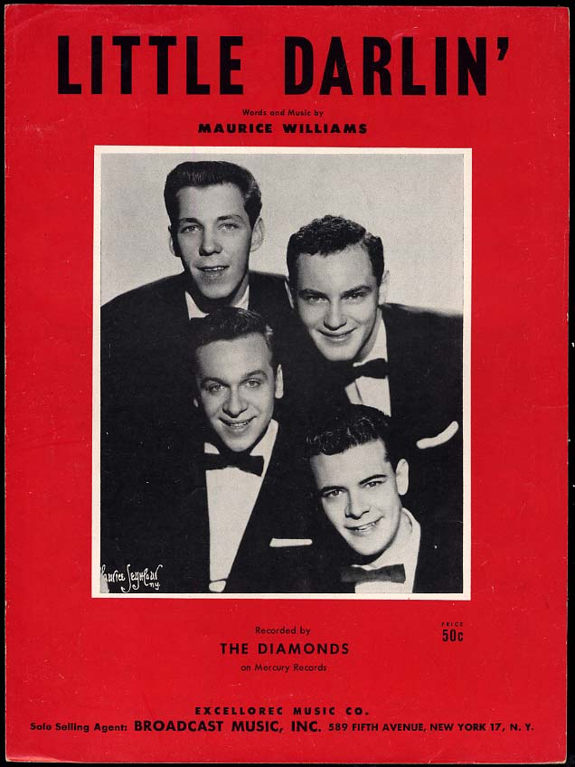 Image for Little Darlin' sheet music by Maurice Williams 1957 recorded by The Diamonds