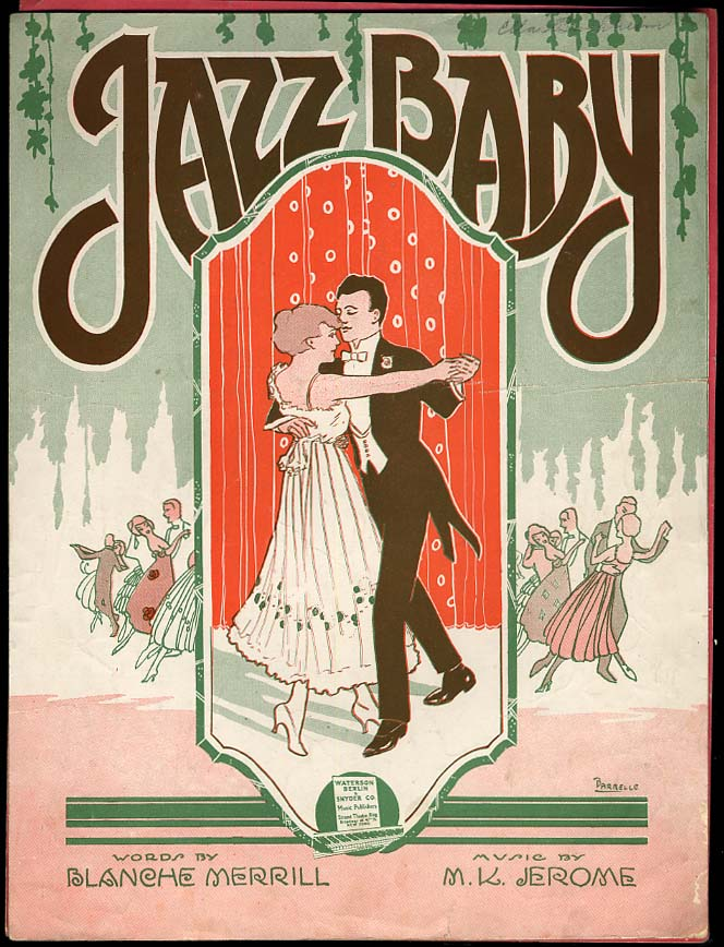 Image for Jazz Baby sheet music by Merrill & Jerome 1919 Barbelle cover