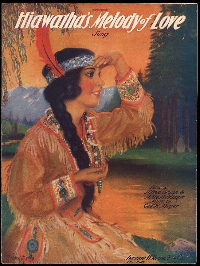 Image for Hiawatha's Melody of Love sheet music 1920 Frederick S Manning cover