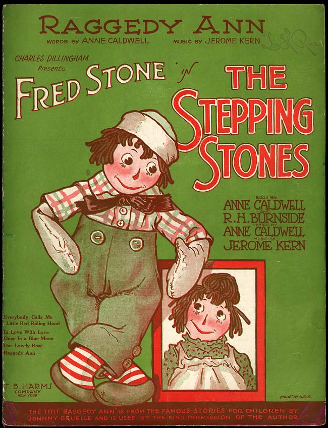 Image for Raggedy Ann [Johnny Gruelle] sheet music 1923 for The Stepping Stones play