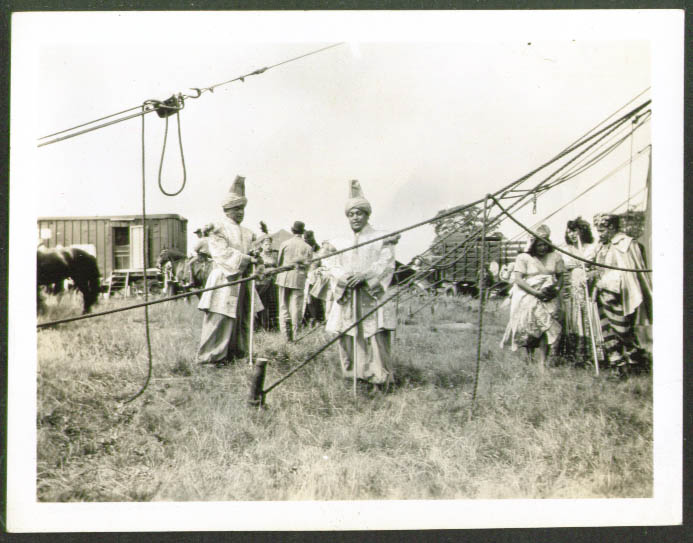 Image for Oriental Act backlot Sparks Circus photo 1940s