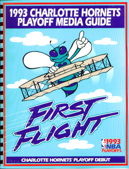 Image for 1993 Charlotte Hornets Playoffs Media Guide NBA Basketball