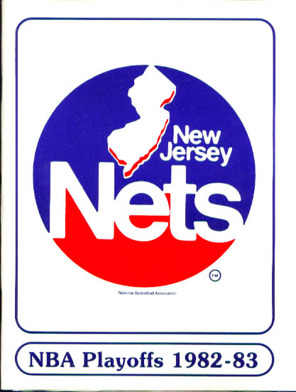 Image for 1983 New Jersey Nets Playoff Guide NBA Basketball