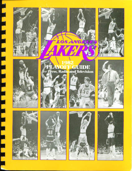 Image for 1982 Los Angeles Lakers Playoff Guide NBA Basketball