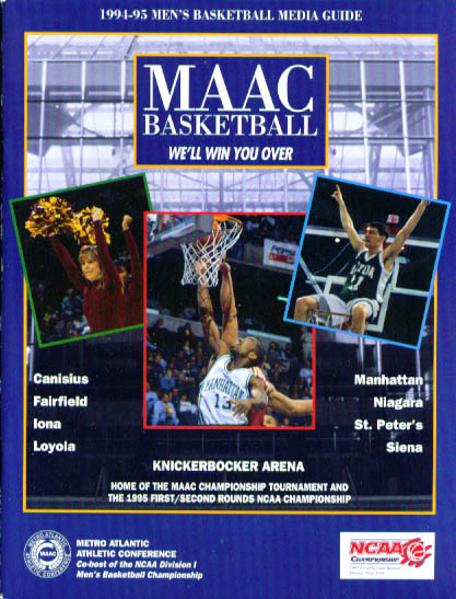 Image for 1994-1995 MAAC basketball Media Guide