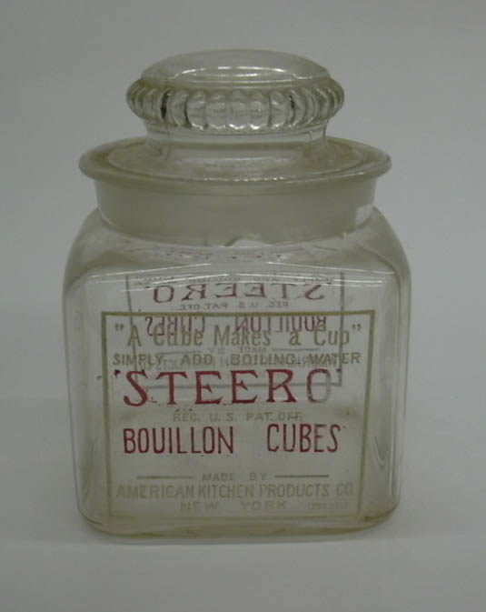 Image for Steero Bouillon Cubes glass jar American Kitchen Products ca 1910