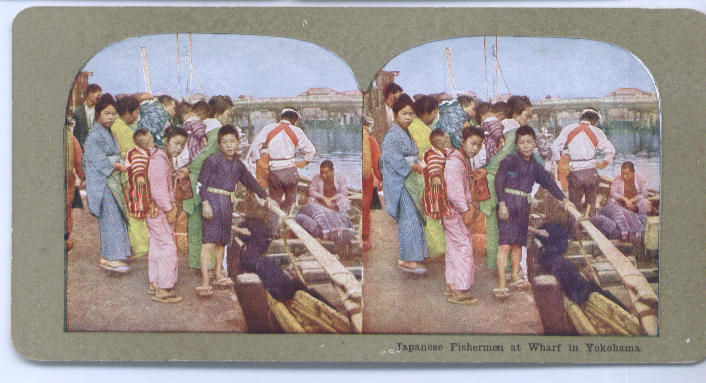Image for 1900s Stereoview Japan Fishermen Yokahama