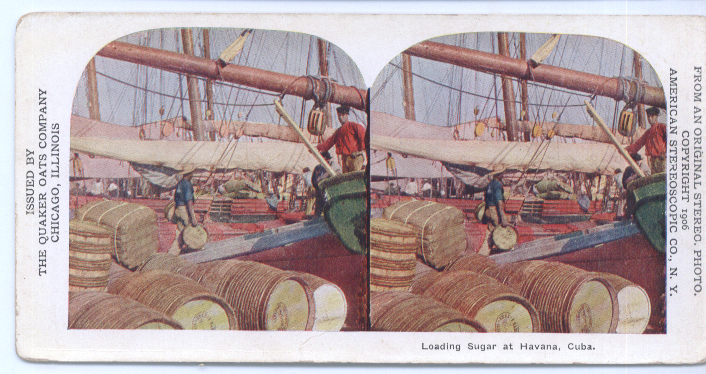 Image for Loading Sugar Havana Cuba 1906 Stereoview