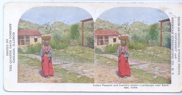 Image for 1906 Stereoview Cuban Peasant Home Santiago