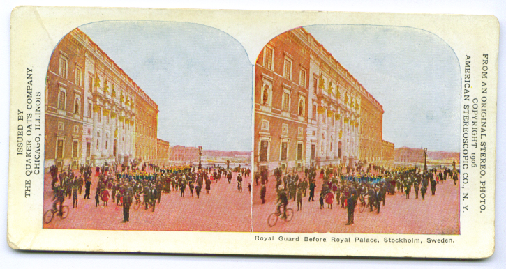Image for Royal Guard Stockholm Quaker stereoview 1906