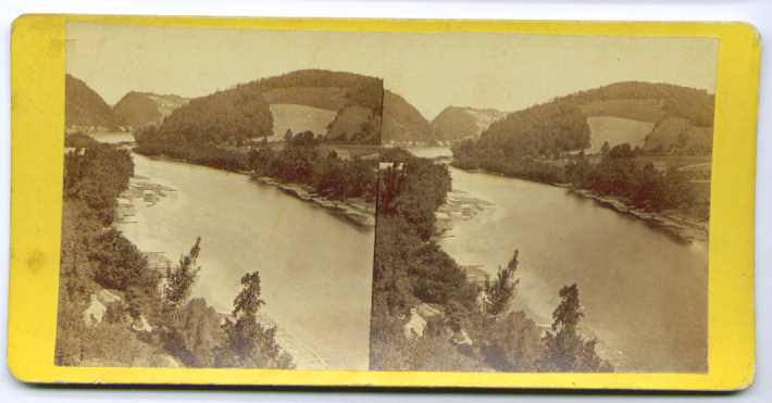 Image for Up the Delaware stereoview 187?