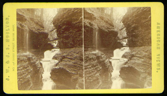 Image for Rainbow Falls Watkins Glen stereoview 1870s