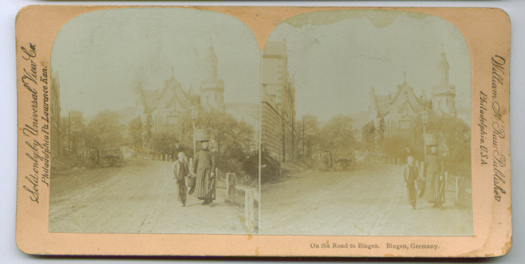 Image for 1890s Bingen Road Germany stereoview