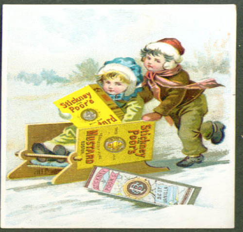 Image for Stickney & Poor's Mustard sled tradecard