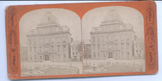 Image for 1880's Stereoview  City Hall View Boston MA