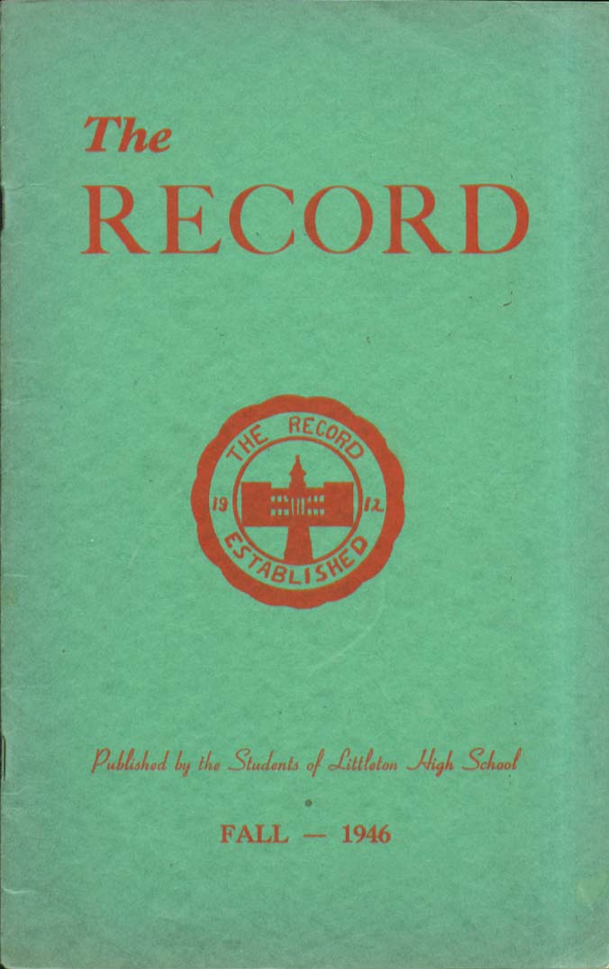 Image for The Record Littleton High School Littleton New Hampshire Fall 1946 Yearbook