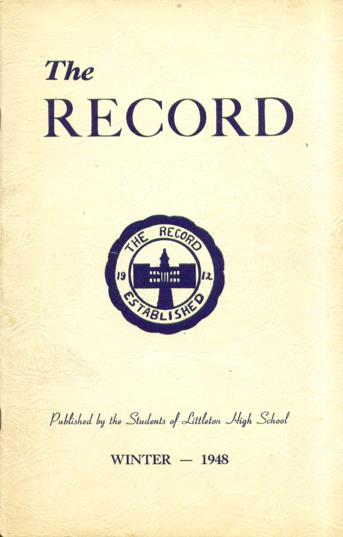Image for The Record Littleton High School Littleton New Hampshire Winter 1948 Yearbook