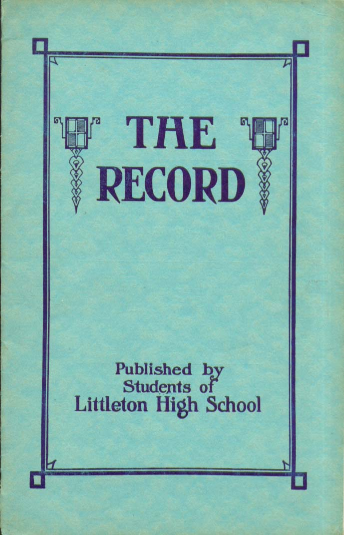 Image for The Record Littleton High School Littleton New Hampshire 1928 Yearbook