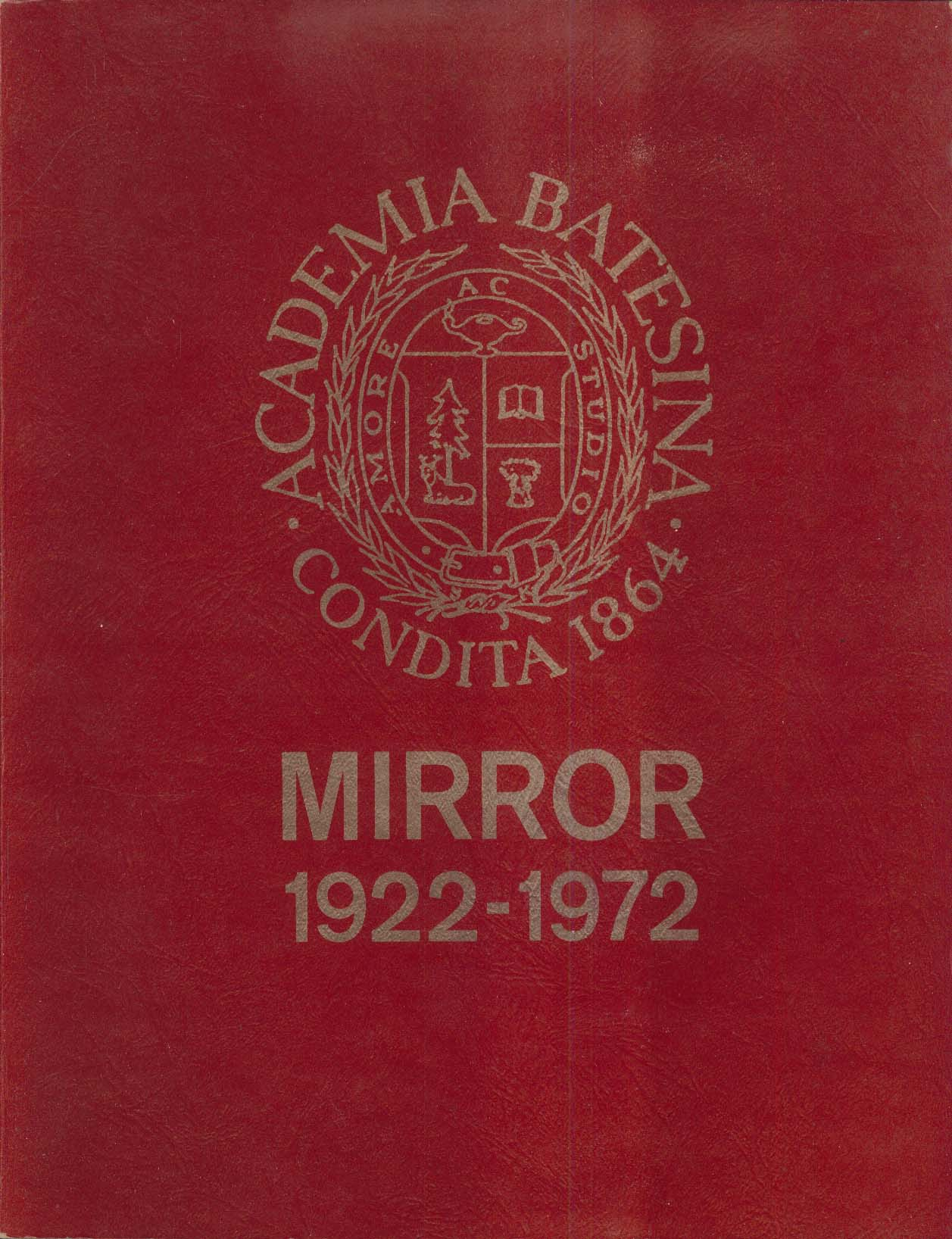 Image for Golden Edition Bates Mirror 1972 Yearbook 50th Anniversary 1922