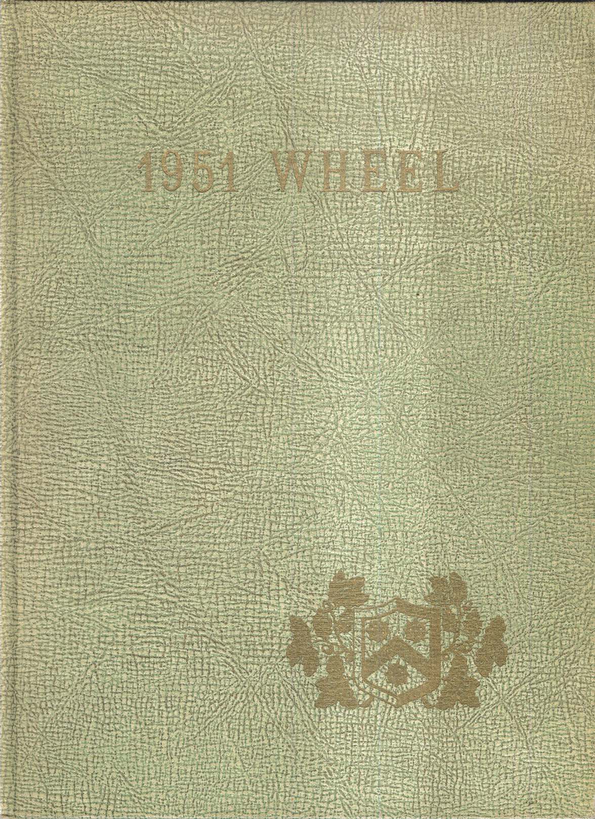 Image for 1951 Wheel Wheelock College 132 Riverway Boston Massachusetts MA Yearbook