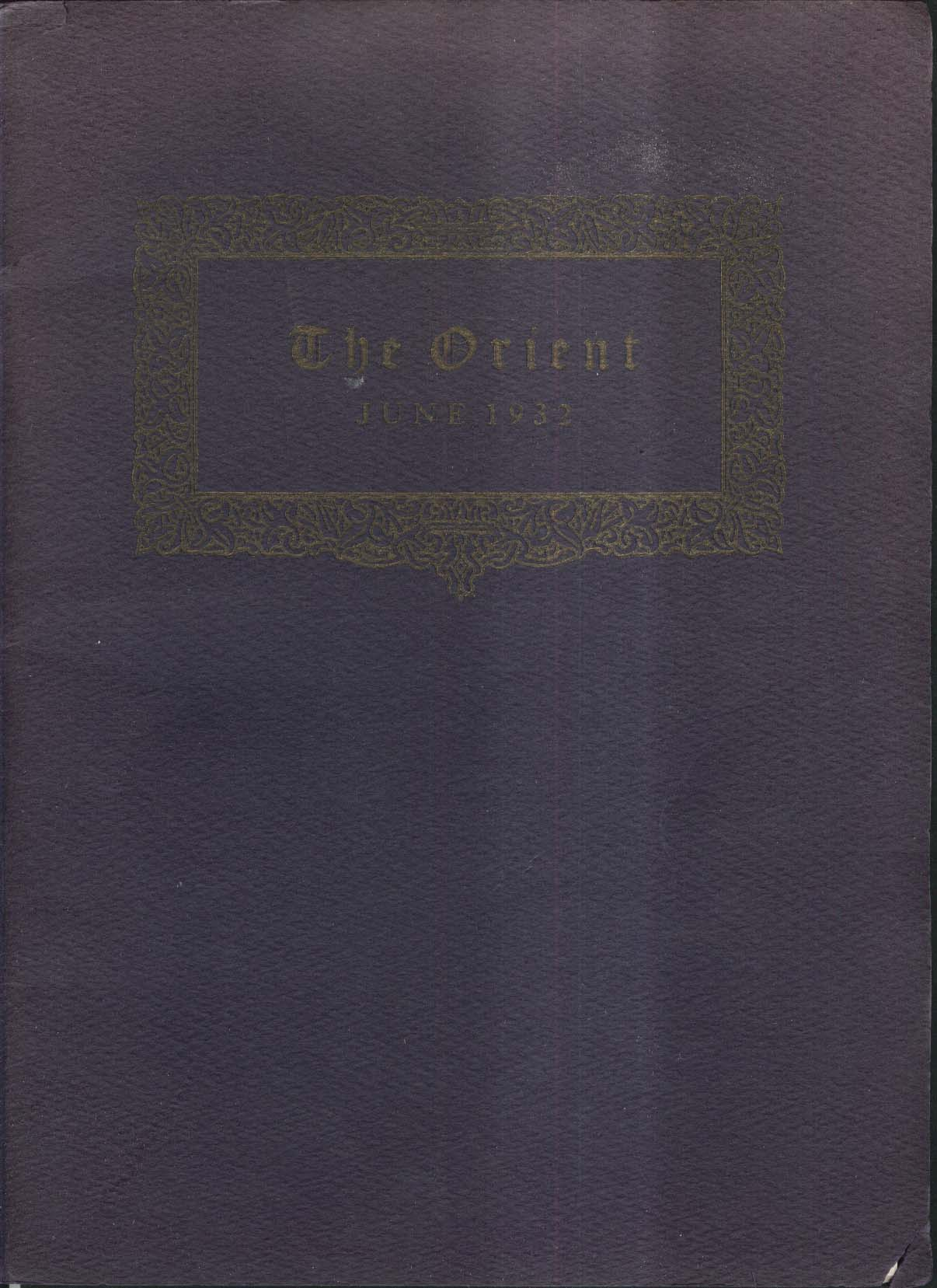 Image for The Orient 1932 East High School Rochester New York Yearbook