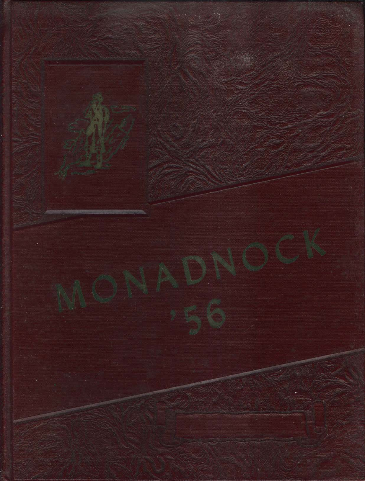 Image for Monadnock 1956 Yearbook Conant High School Jaffrey New Hampshire NH
