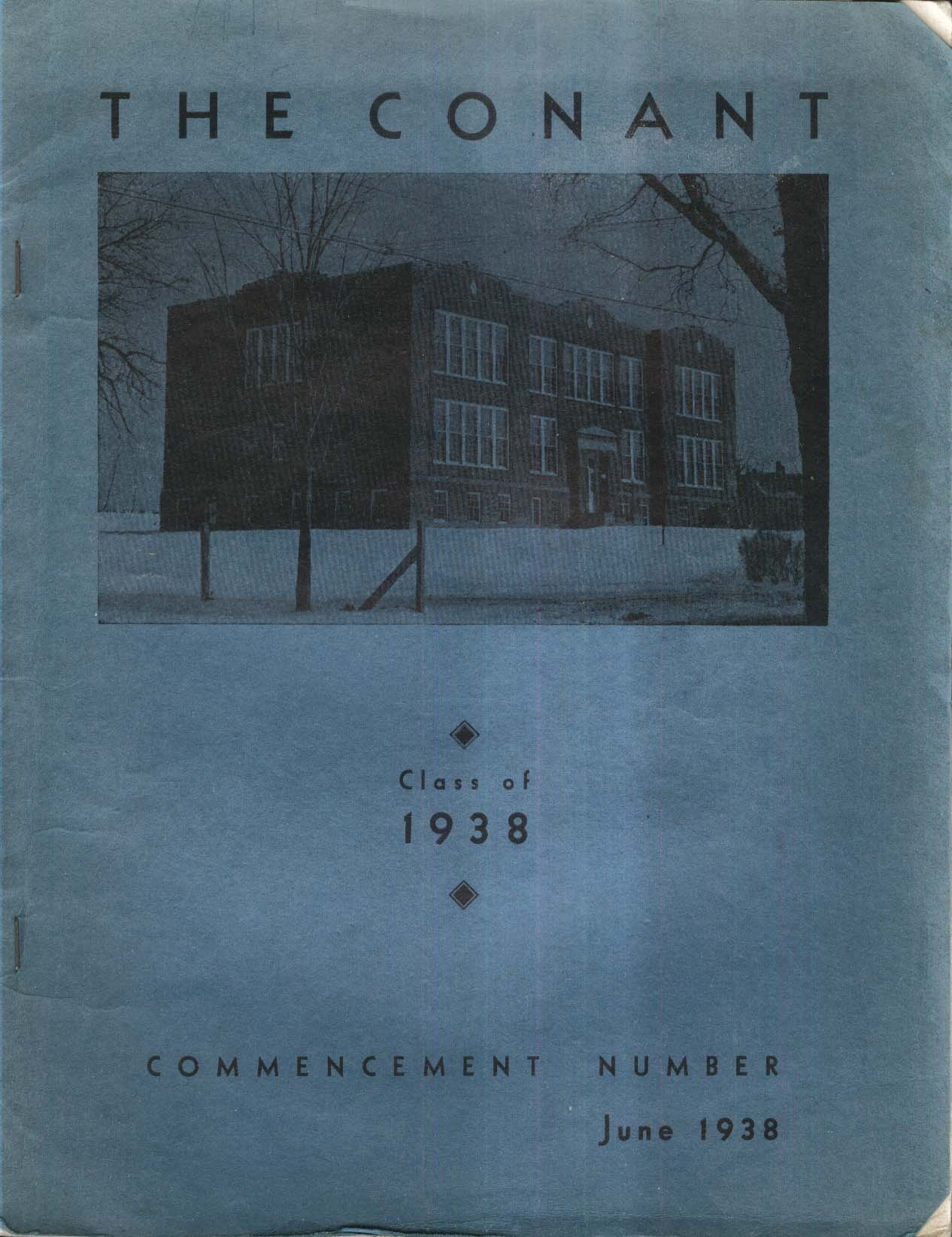 Image for The Conant 1938 Yearbook Conant High School East Jaffrey New Hampshire NH