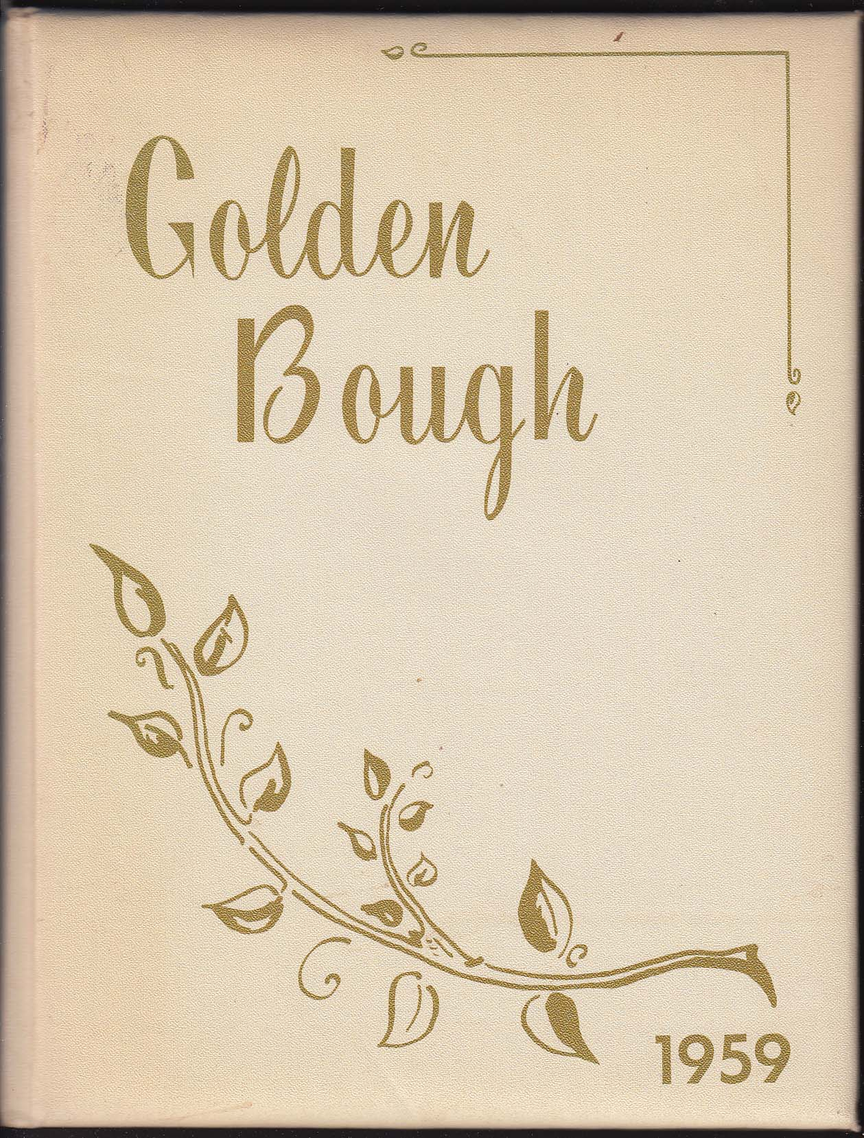 Image for Golden Bough 1959 Yearbook Ellis Hospital of Nursing Schenectady New York NY