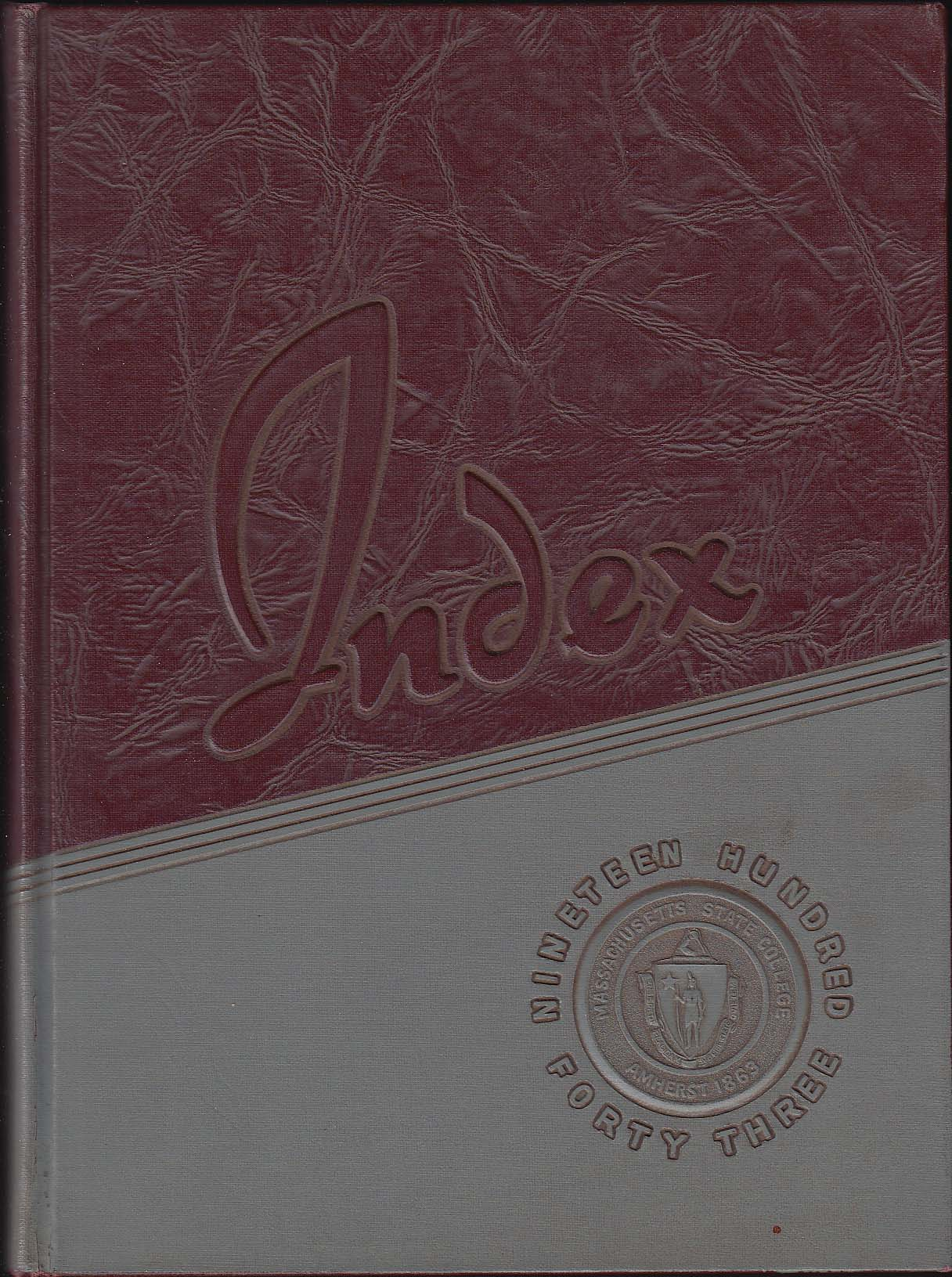 Image for Index 1943 Yearbook Massachusetts State College Amherst MA