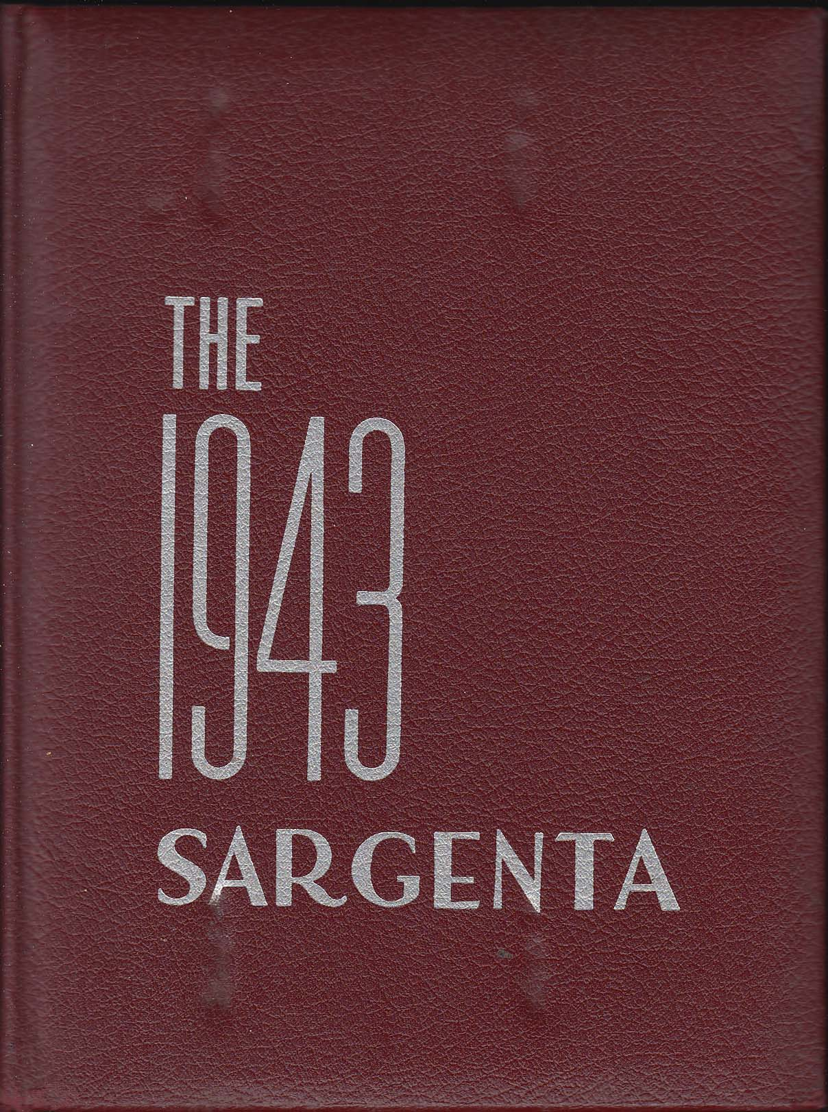 Image for Sargenta 1943 Yearbook Sargent College Cambridge Massachusetts MA