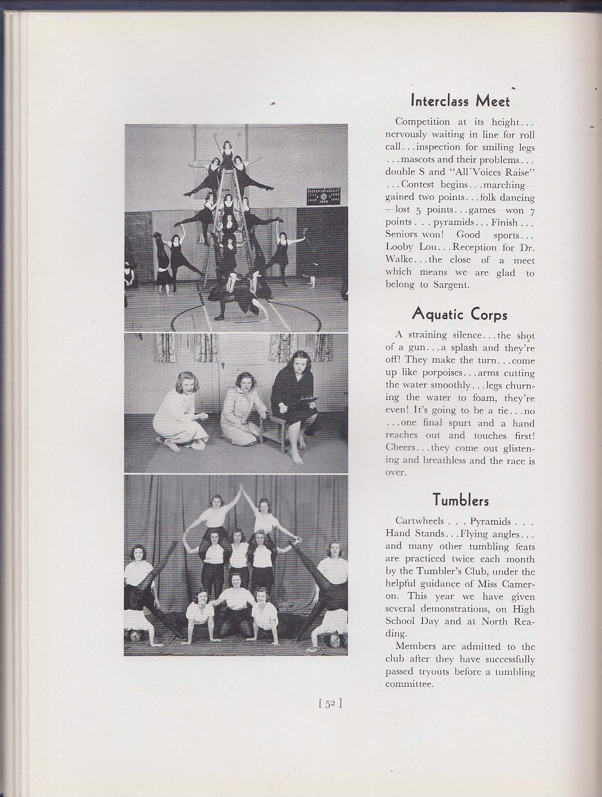 Image for Sargenta 1941 Yearbook Sargent College Cambridge Massachusetts MA