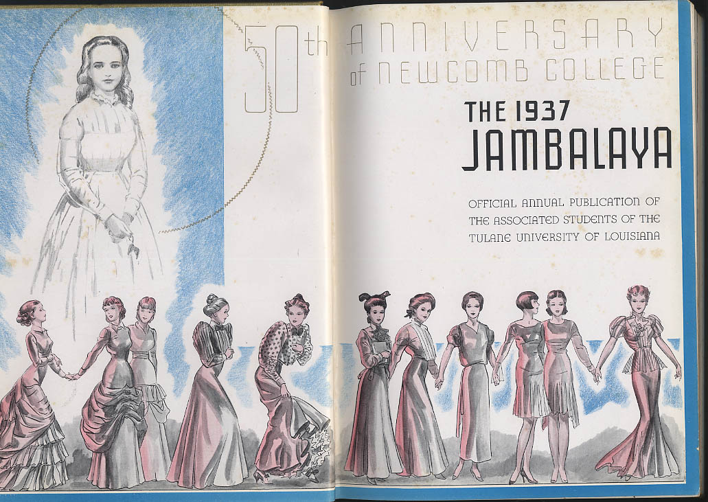 Image for Jambalaya 1937 Yearbook Newcomb College University of Louisiana New Orleans