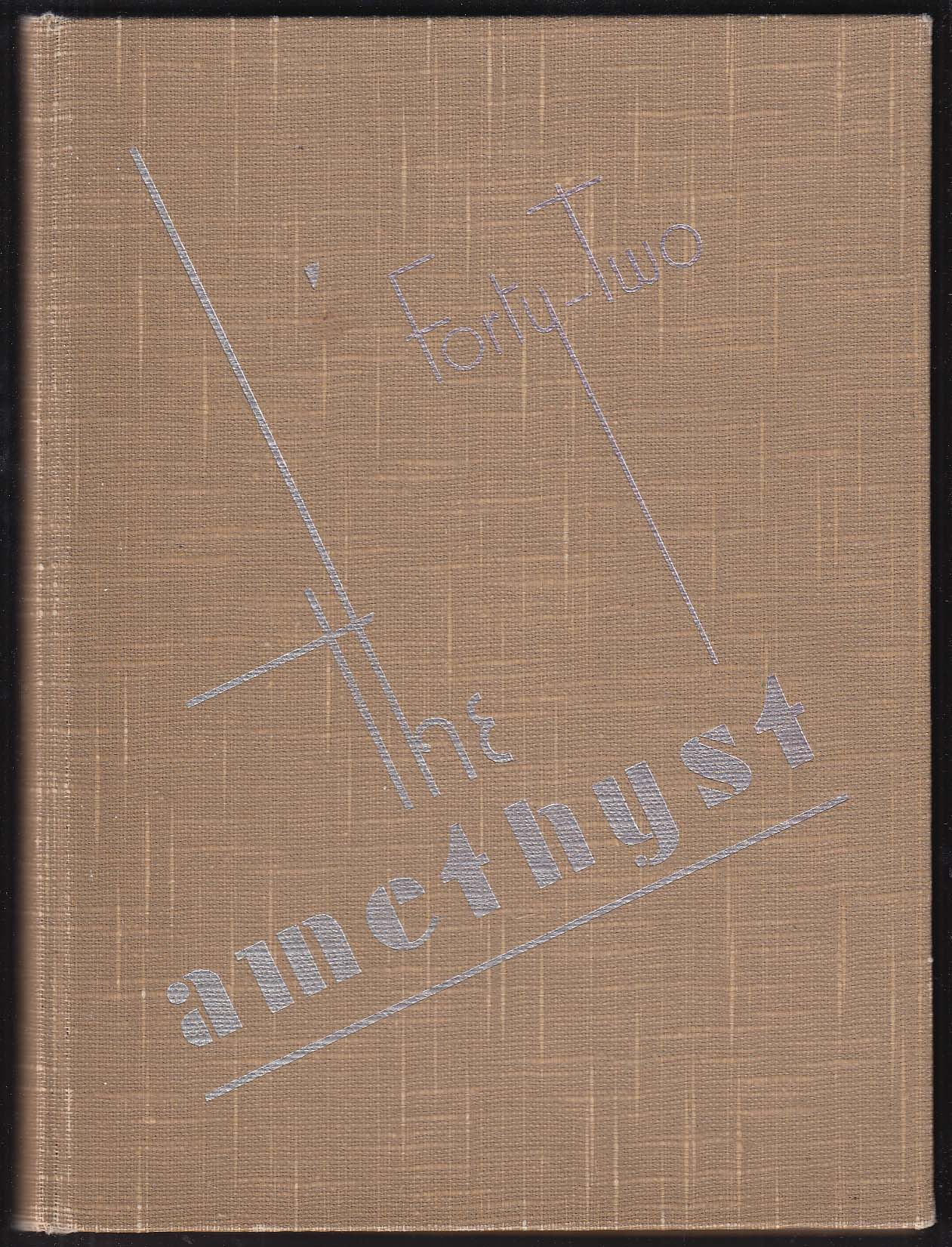 Image for The Amethyst 1942 Yearbook Deering High School Portland Maine Wilbur Ingalls