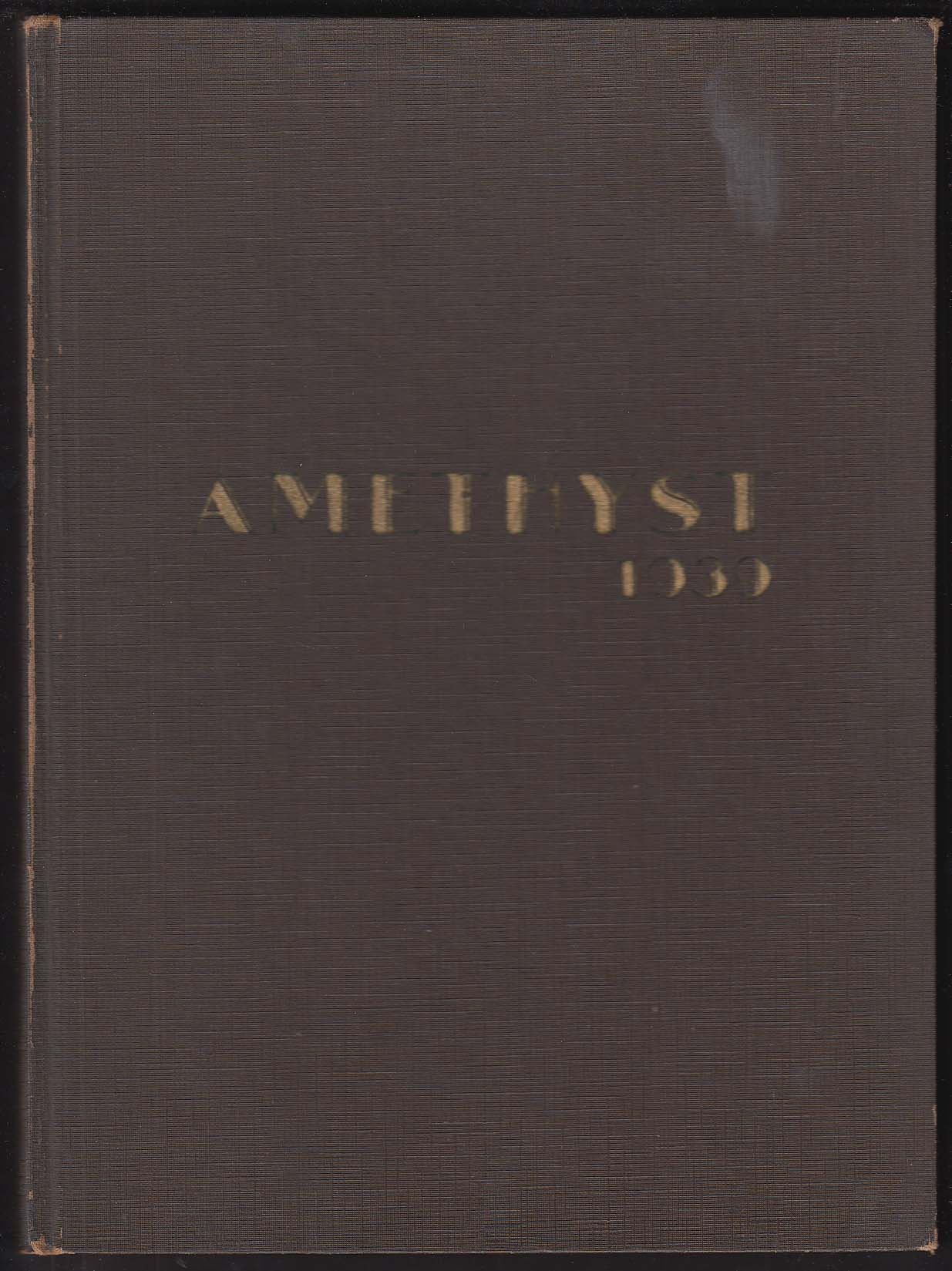 Image for Amethyst 1939 Yearbook Deering High School Portland Maine
