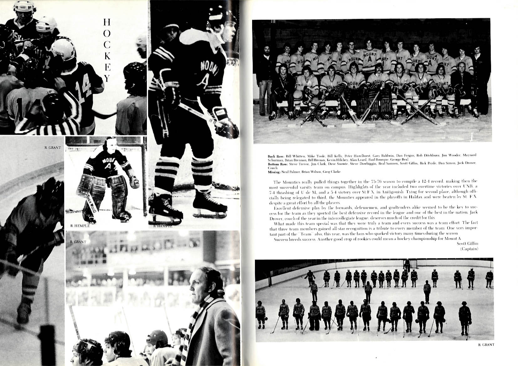 Image for Allisonian 1976 Yearbook Mount Allison University New Brunswick Canada