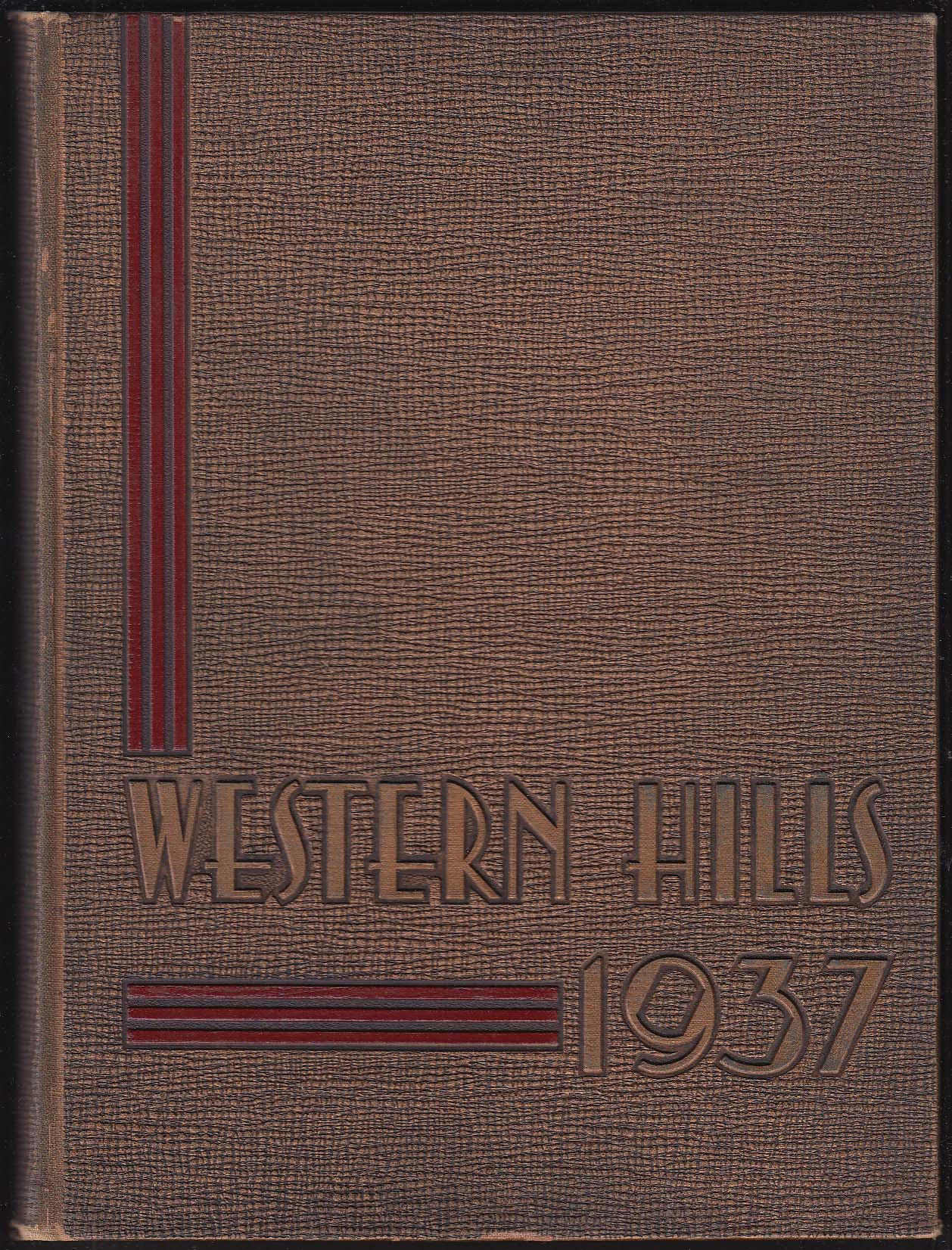 Image for Western Hills High School 1937 Yearbook Cincinnati Ohio