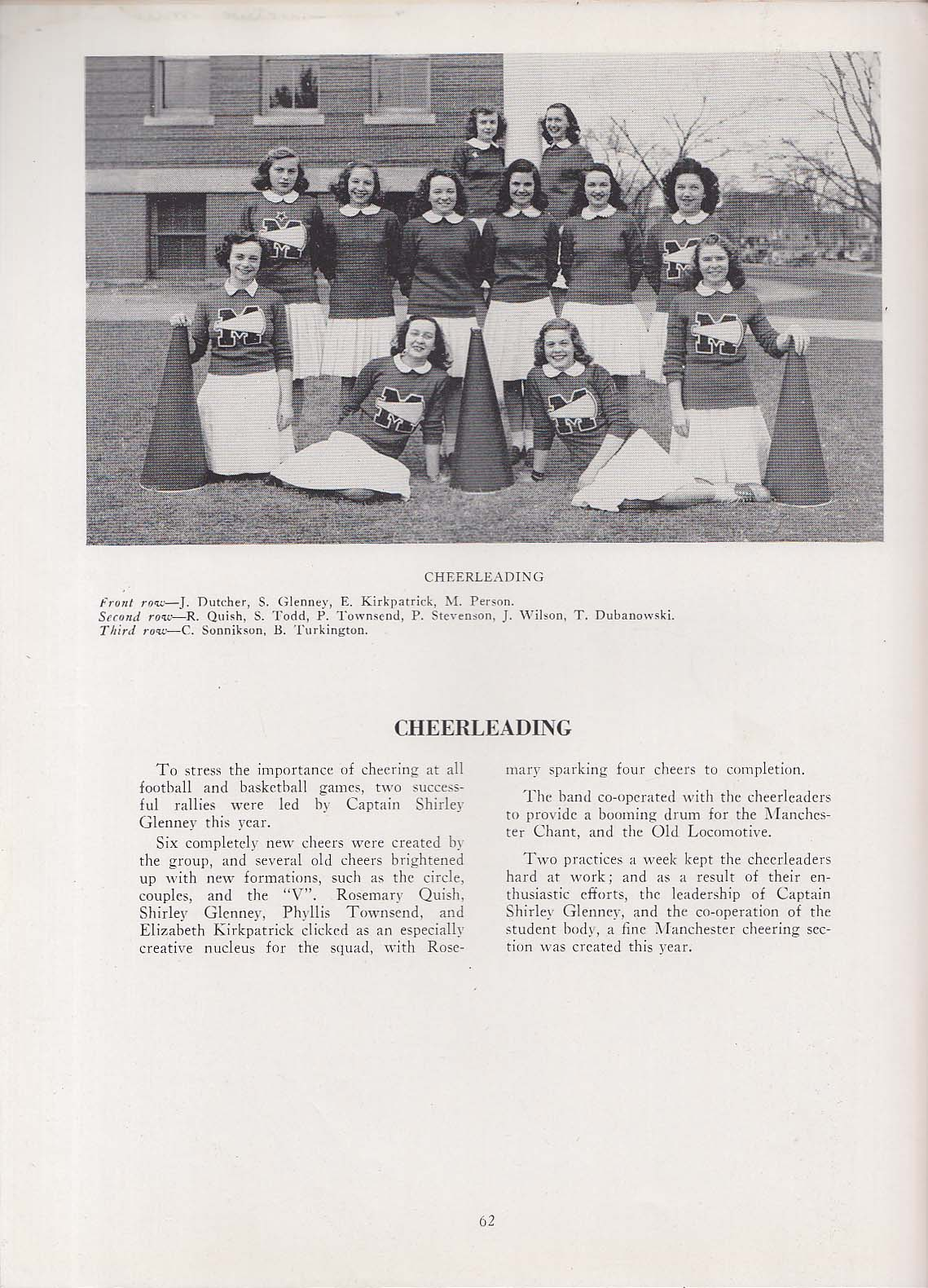 Image for Somanhis 1946 Yearbook Manchester High School Manchester CT