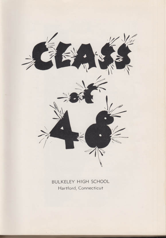Image for Bulkeley High School Hartford CT yearbook 1948