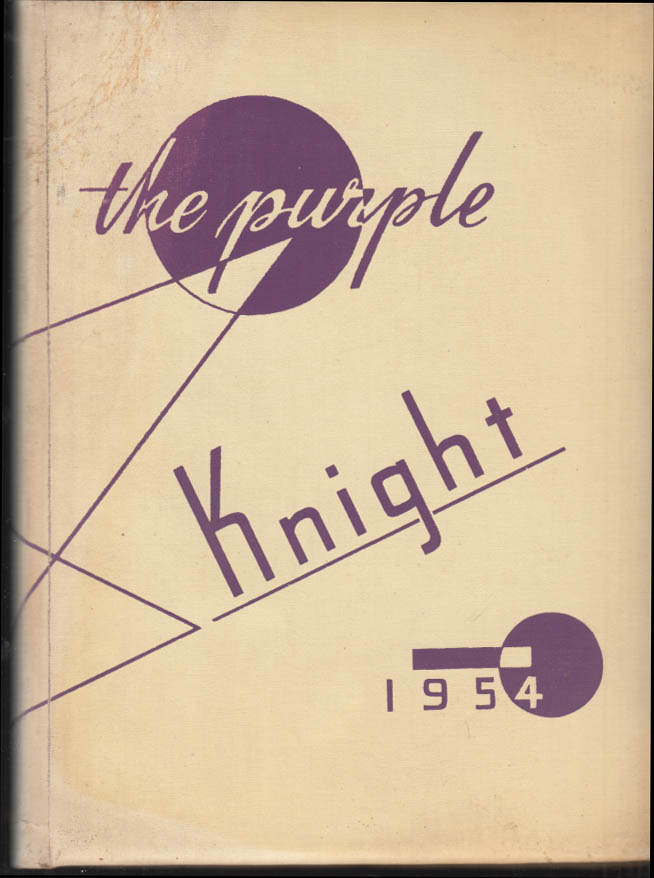 Image for University of Bridgeport THE PURPLE KNIGHT yearbook 1954 CT #1