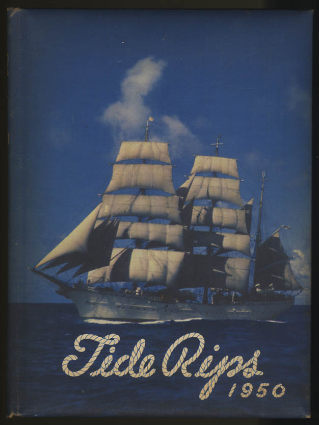 Image for Tide Rips 1950 Yearbook United States Coast Guard Academy CT Benedict Stabile
