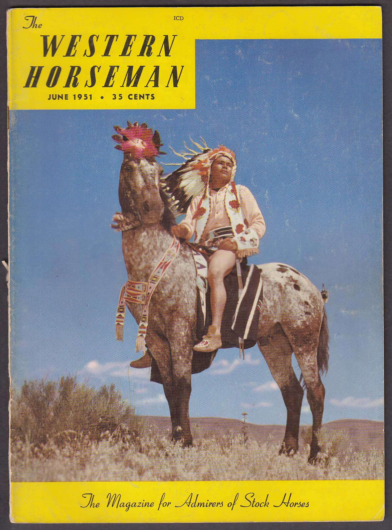 Image for WESTERN HORSEMAN Arab Contest Results Appaloosa Horse Club ++ 6 1951