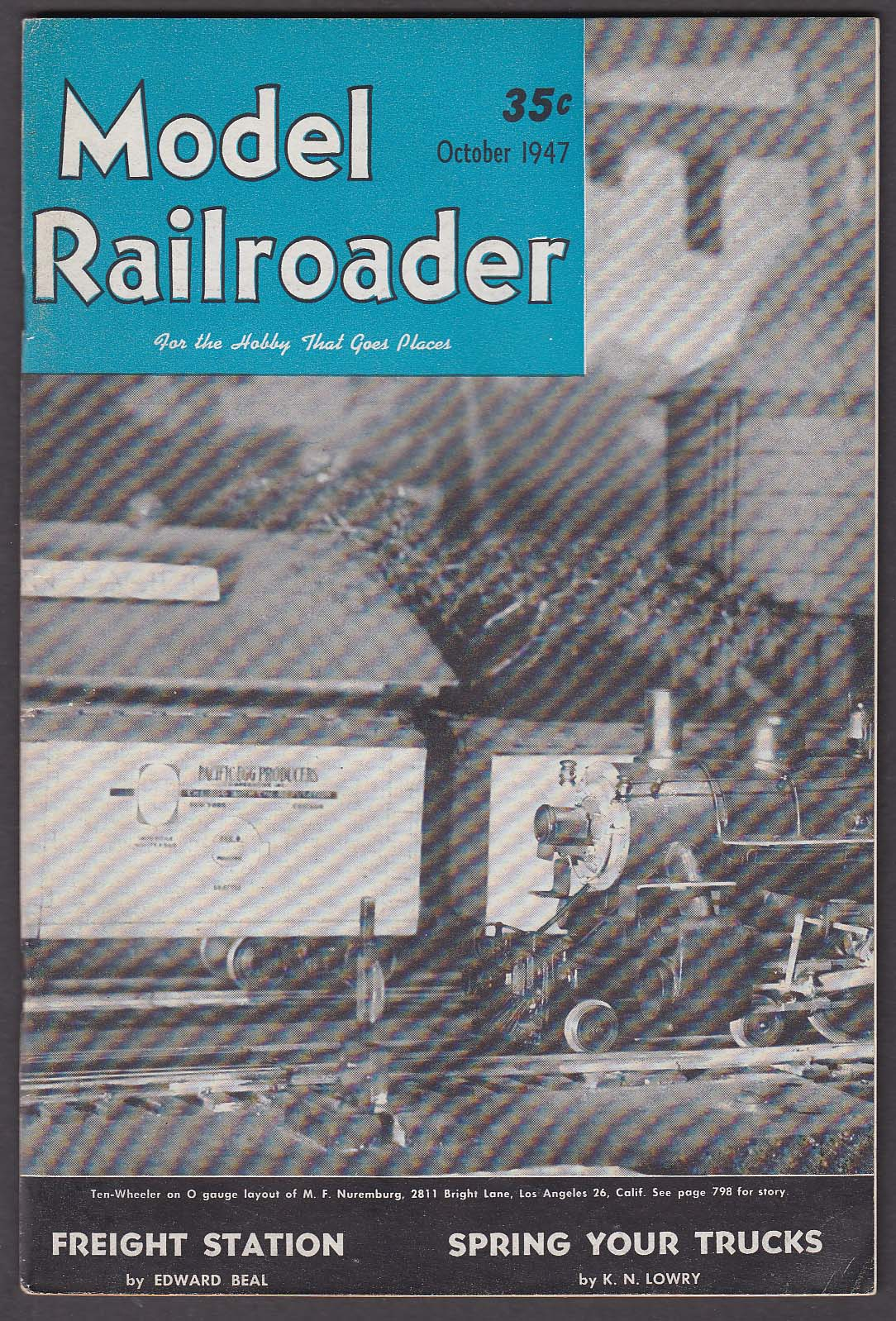 Image for MODEL RAILROADER Freight Station NMRA Convention Dreamliner Journey + 10 1947