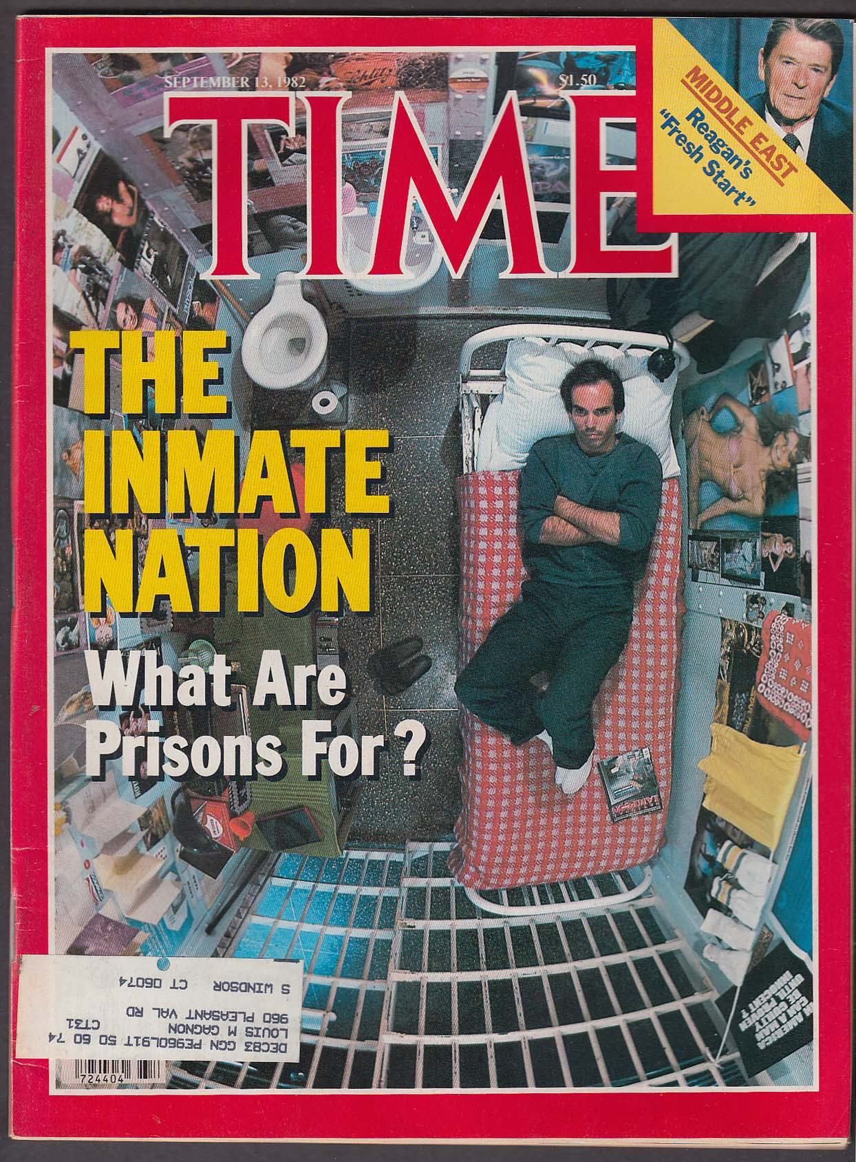 Image for TIME Prisons Attica Reagan Israel PLO Poland Vatican 9/13 1982